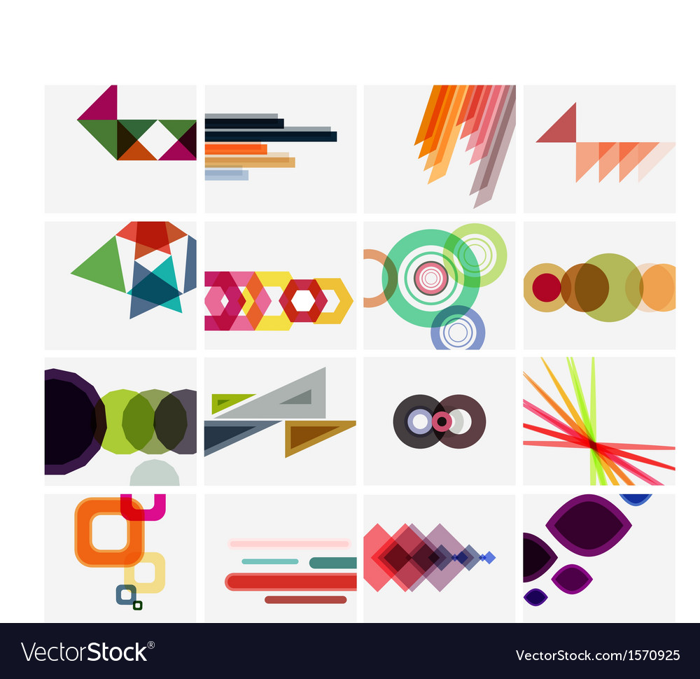 Modern geometrical art background templates vector | Price: 1 Credit (USD $1)