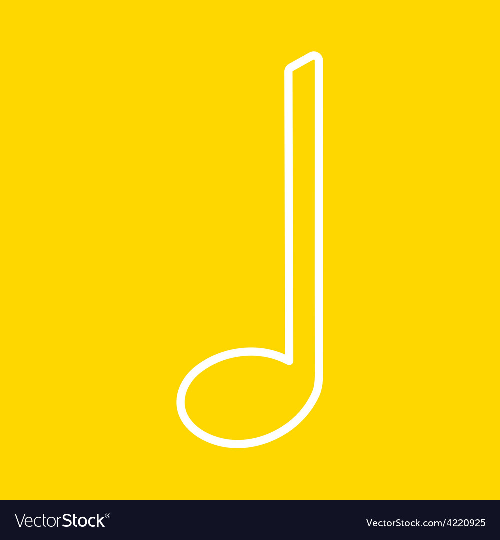 Music note design vector | Price: 1 Credit (USD $1)