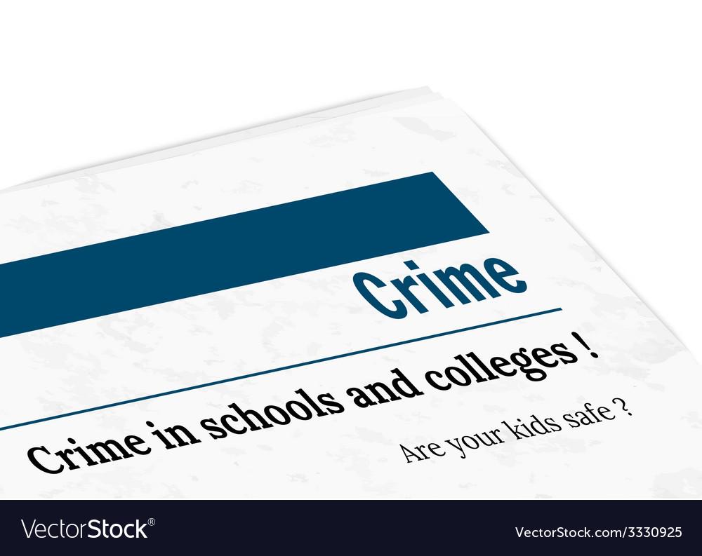 Newspaper - crime vector | Price: 1 Credit (USD $1)