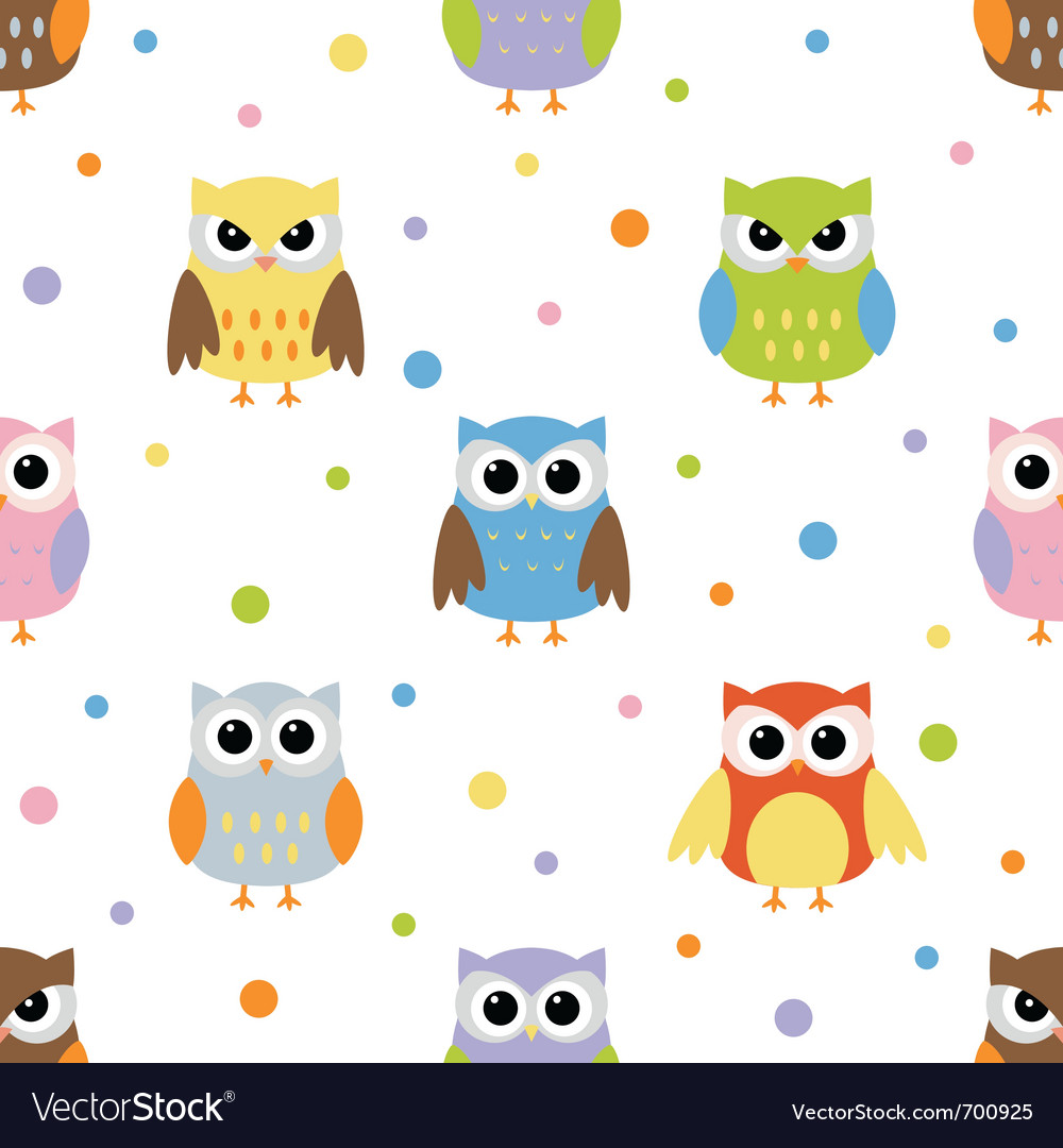 Owls pattern vector