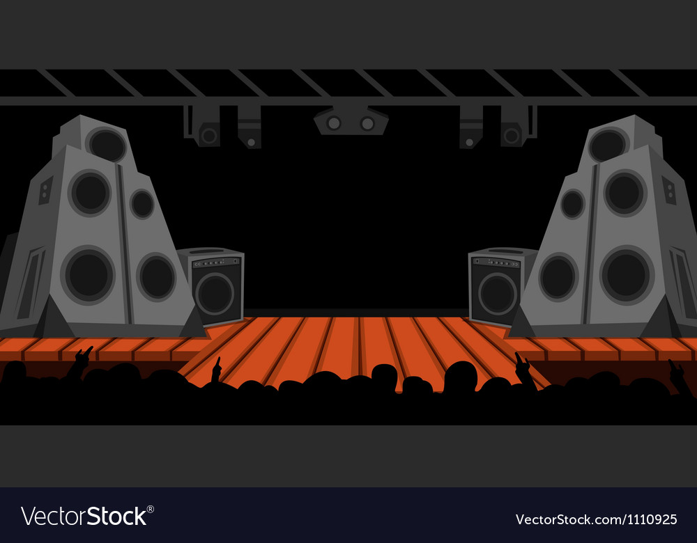 Rock stage vector | Price: 1 Credit (USD $1)