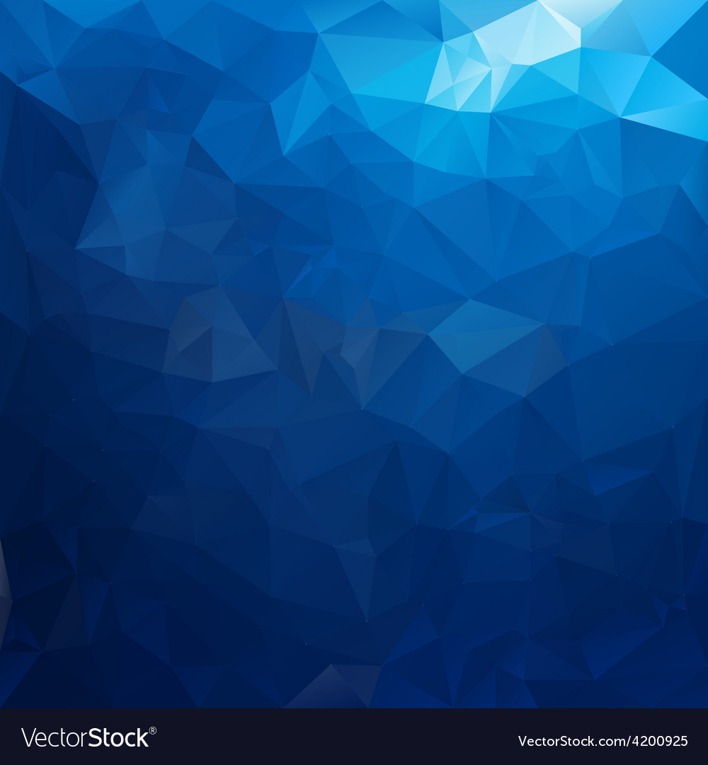 Sea water blue polygonal triangular pattern vector | Price: 1 Credit (USD $1)
