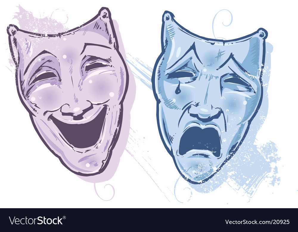 Theater faces vector | Price: 1 Credit (USD $1)
