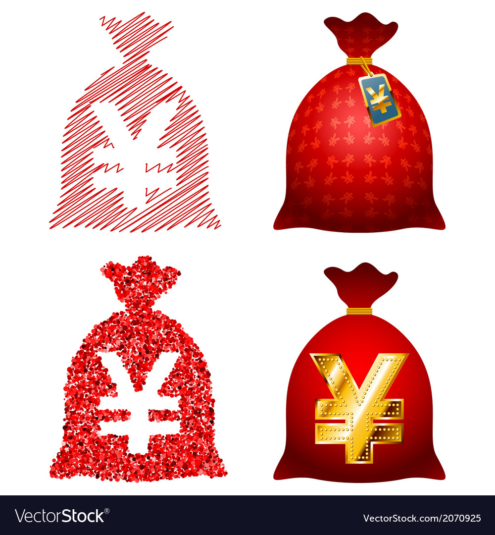 Variations currency sack yen jpy vector | Price: 1 Credit (USD $1)
