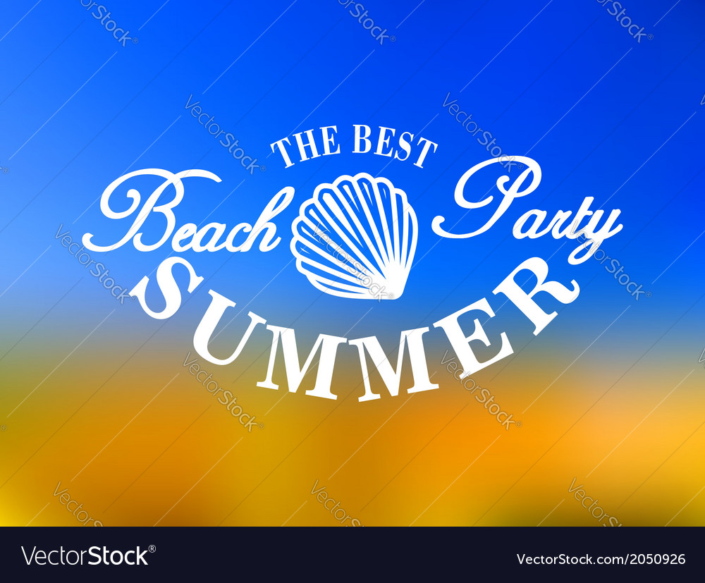 Best beach party poster vector | Price: 1 Credit (USD $1)