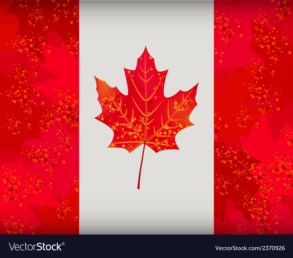 Canadian flag vector | Price: 1 Credit (USD $1)