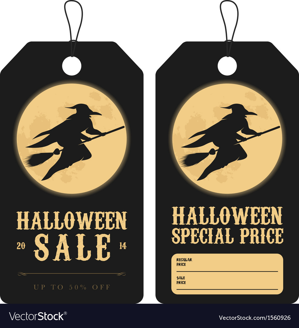 Halloween special sale price tags vector   Price: 1 Credit (USD $1)