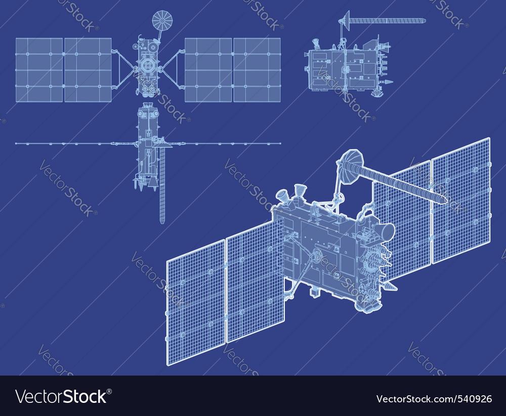Hidetailed gps satellite vector | Price: 1 Credit (USD $1)