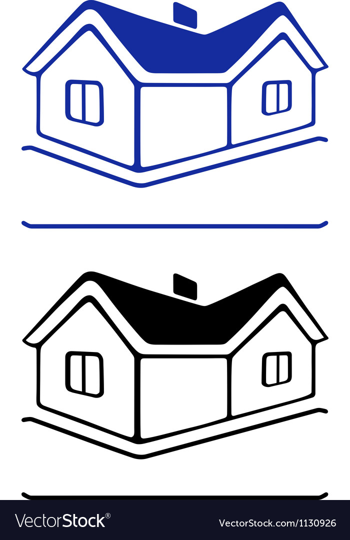 House sign vector | Price: 1 Credit (USD $1)