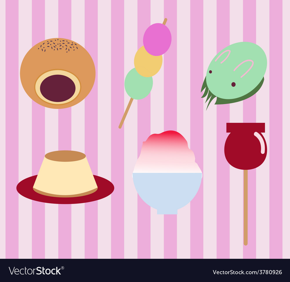 Japanese traditional sweet food vector | Price: 1 Credit (USD $1)