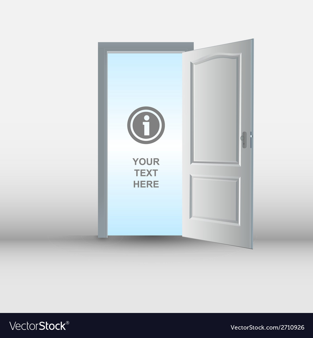 Open white door template vector | Price: 1 Credit (USD $1)