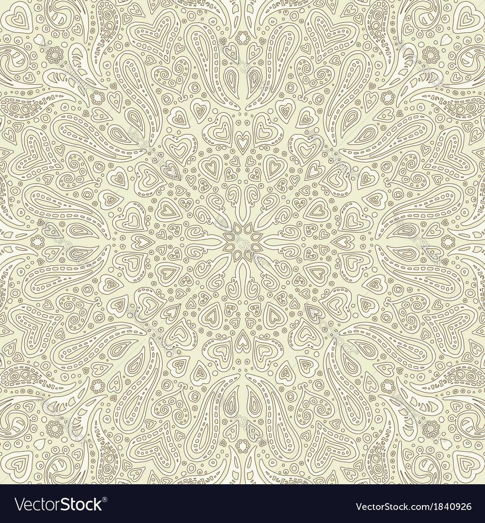 Paisley cream background vector | Price: 1 Credit (USD $1)