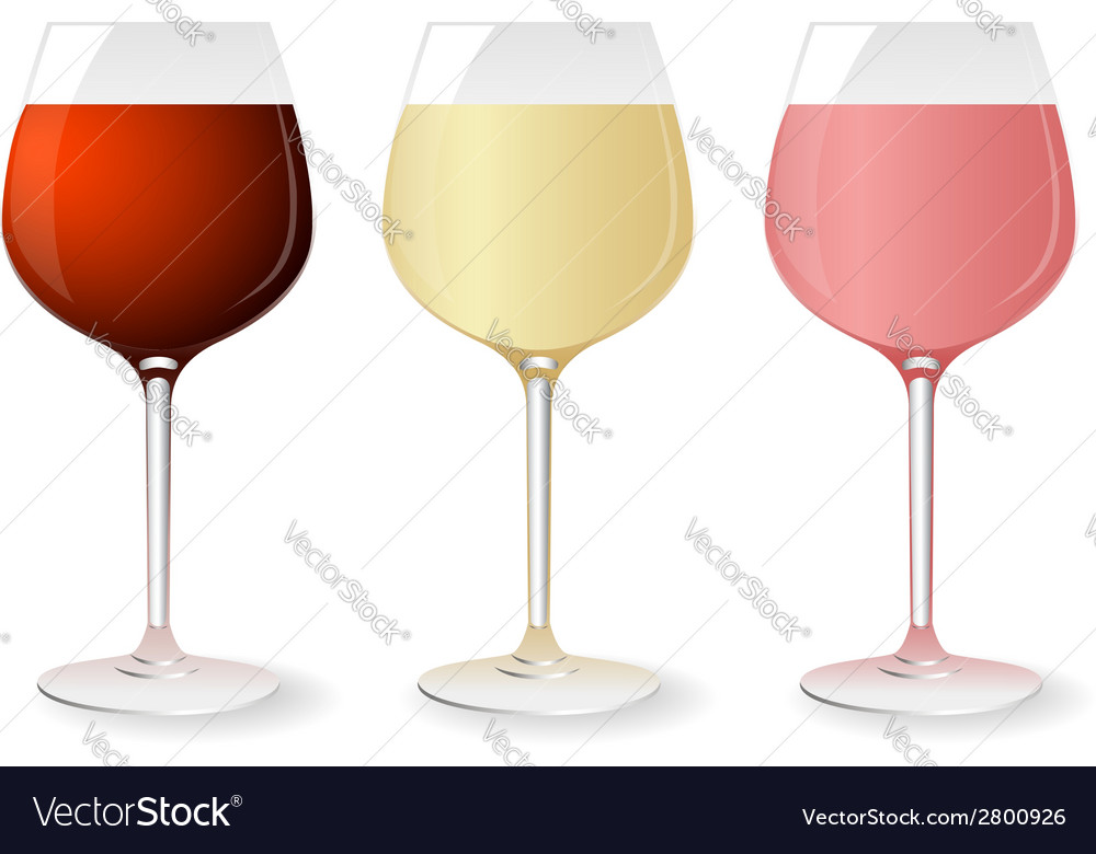 Set of wine glasses vector | Price: 1 Credit (USD $1)