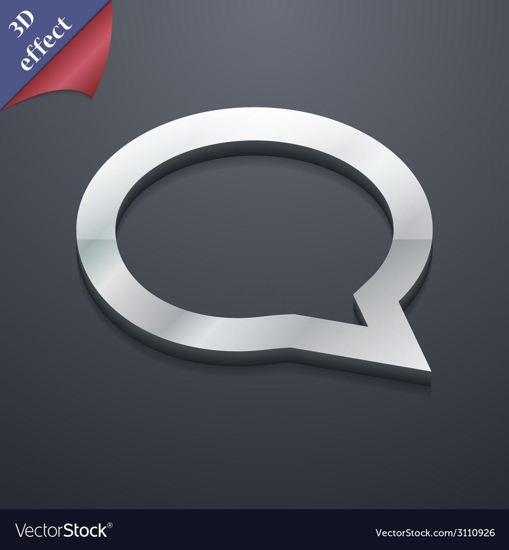Speech bubble icon symbol 3d style trendy modern vector | Price: 1 Credit (USD $1)