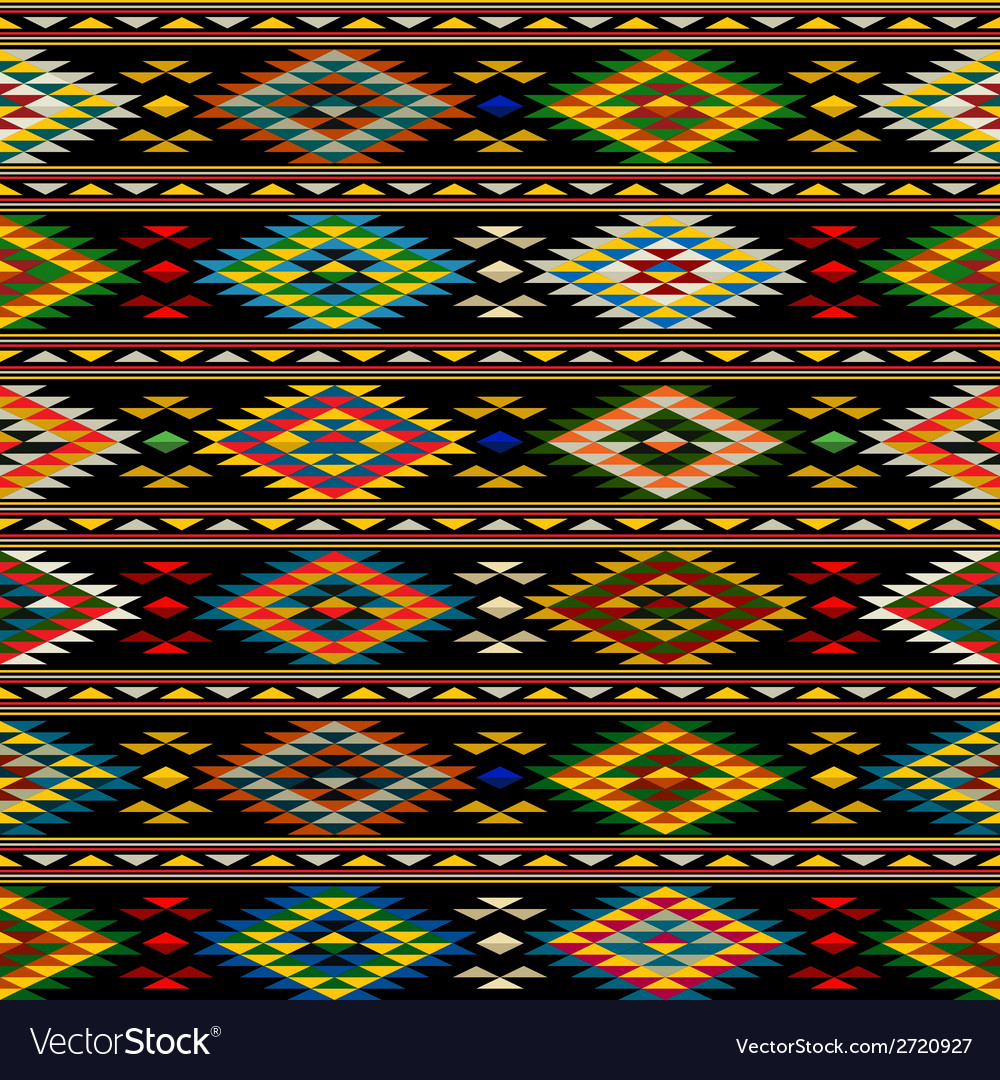 American indian seamless pattern vector | Price: 1 Credit (USD $1)