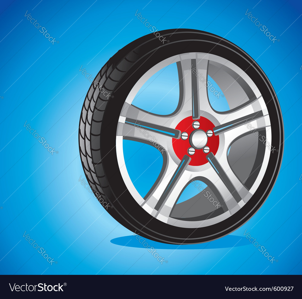 Automotive wheel vector | Price: 3 Credit (USD $3)