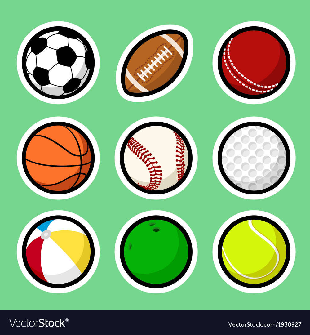 Ball stickers vector | Price: 1 Credit (USD $1)