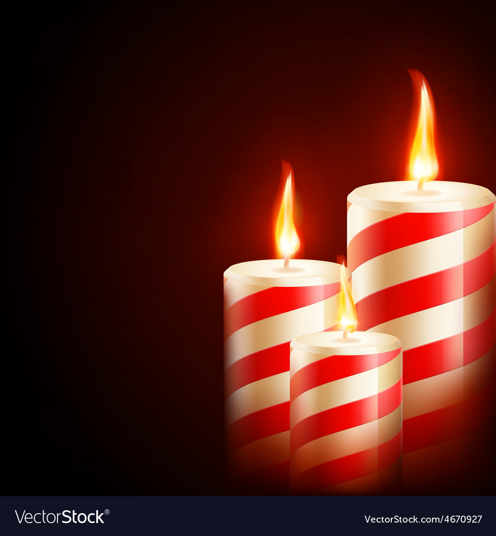 Candles on dark background eps 10 vector | Price: 3 Credit (USD $3)