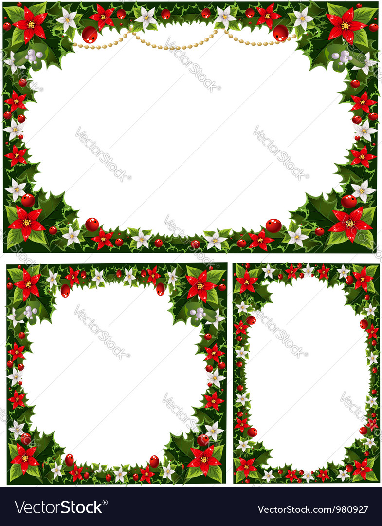 Collection of beautiful decorative frames vector | Price: 3 Credit (USD $3)