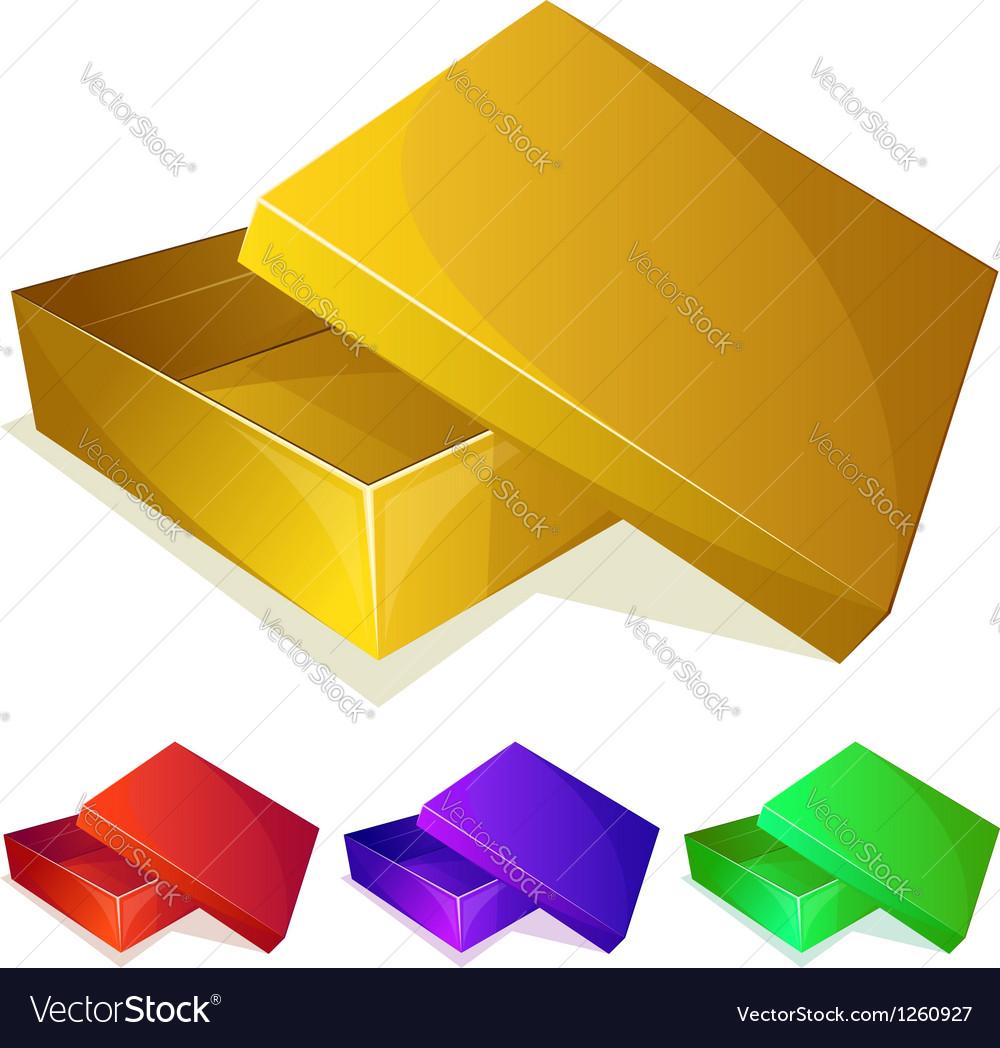 Empty yellow box vector | Price: 1 Credit (USD $1)