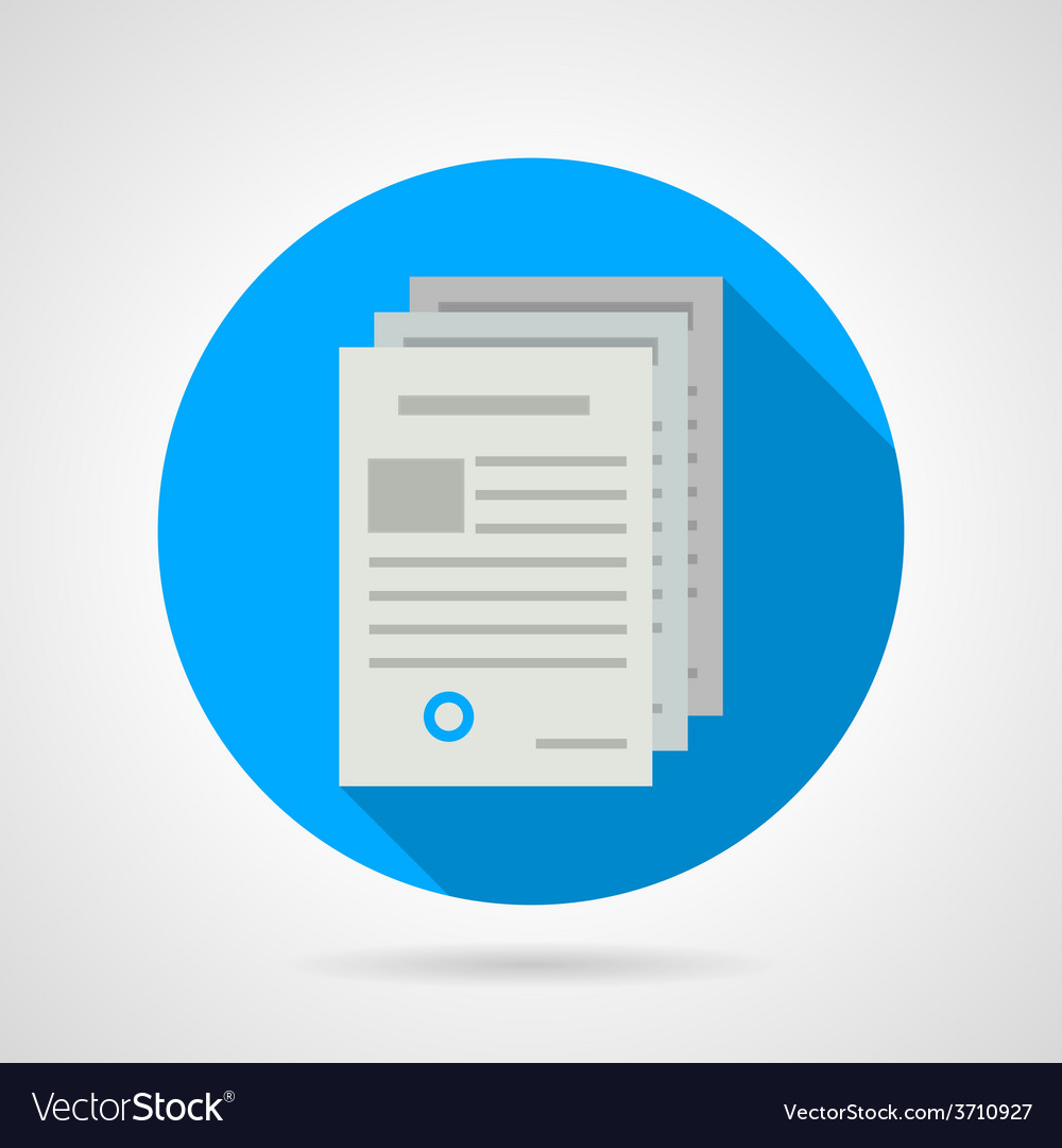 Flat icon for document vector | Price: 1 Credit (USD $1)