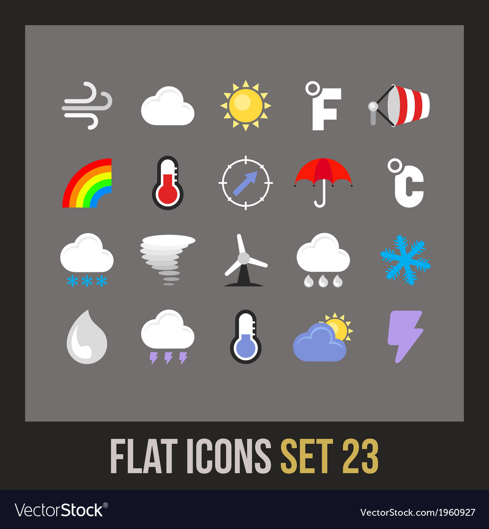 Flat icons set 23 vector | Price: 1 Credit (USD $1)