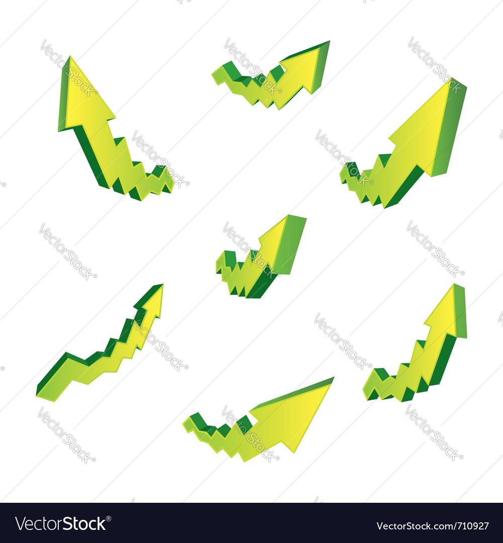 Green arrows vector | Price: 1 Credit (USD $1)