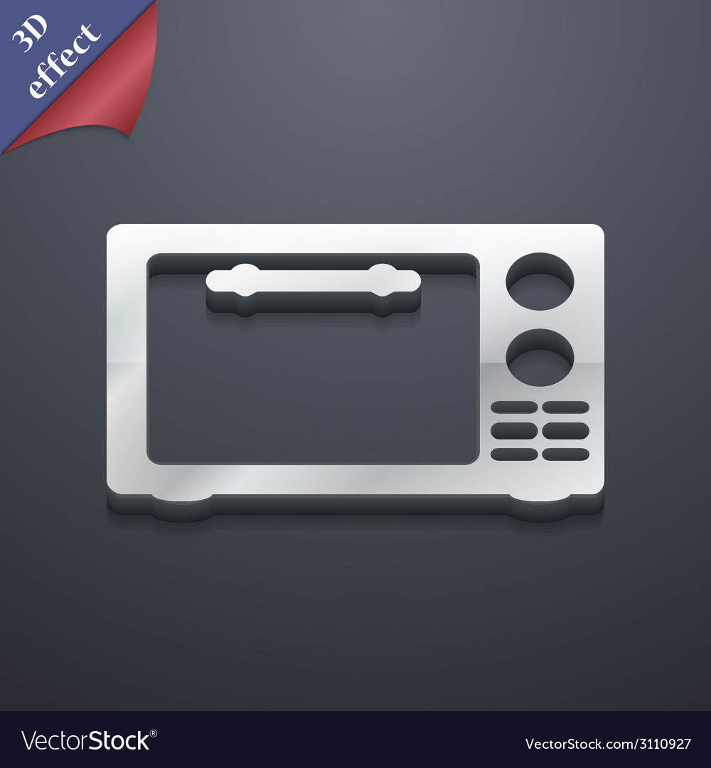 Microwave oven icon symbol 3d style trendy modern vector | Price: 1 Credit (USD $1)