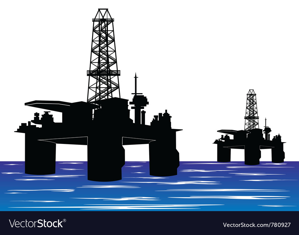 Oil drilling rigs vector | Price: 1 Credit (USD $1)