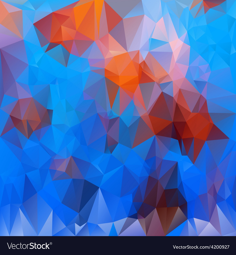 Undersea life blue orange polygonal triangular vector | Price: 1 Credit (USD $1)
