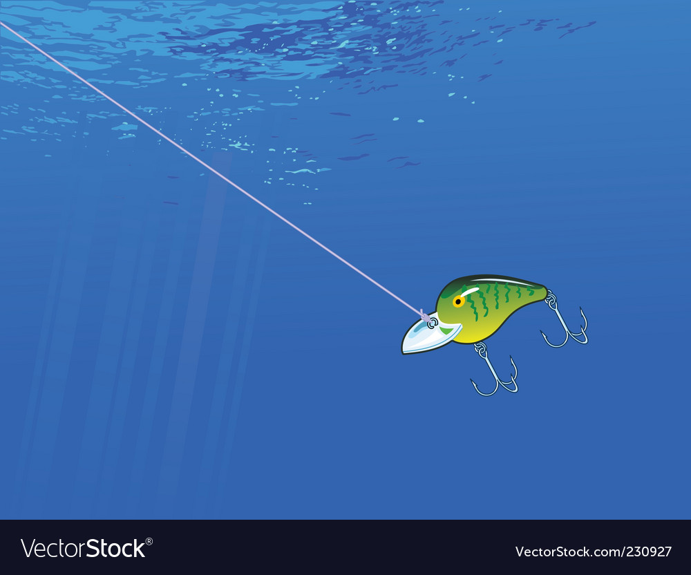 Underwater lure vector | Price: 1 Credit (USD $1)