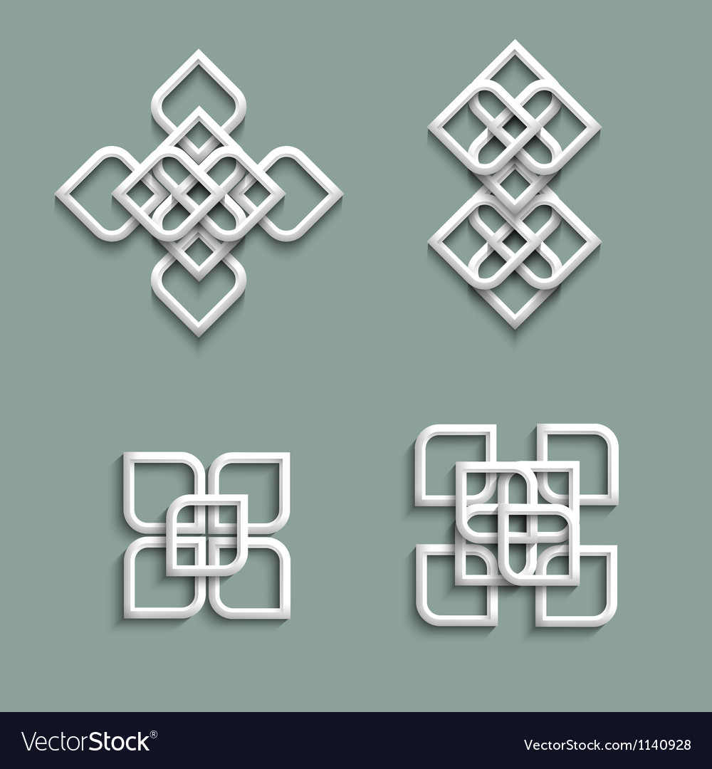 3d ornaments in arabic style vector | Price: 1 Credit (USD $1)