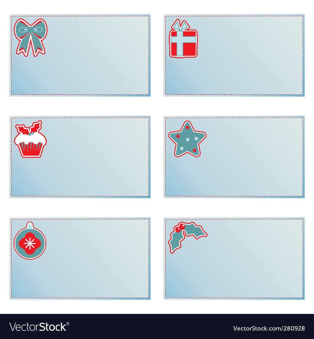 Christmas note cards vector | Price: 1 Credit (USD $1)