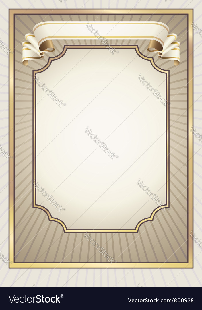 Classic style background and ribbon banner vector | Price: 1 Credit (USD $1)