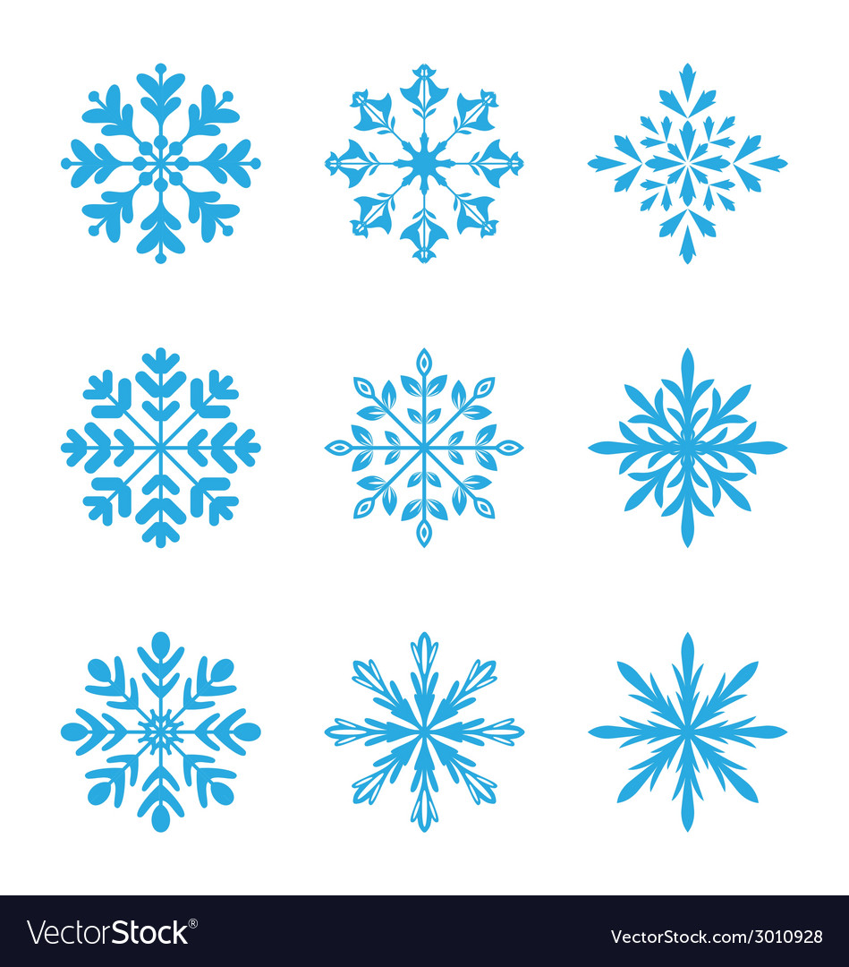 Collection of variation snowflakes isolated on vector | Price: 1 Credit (USD $1)
