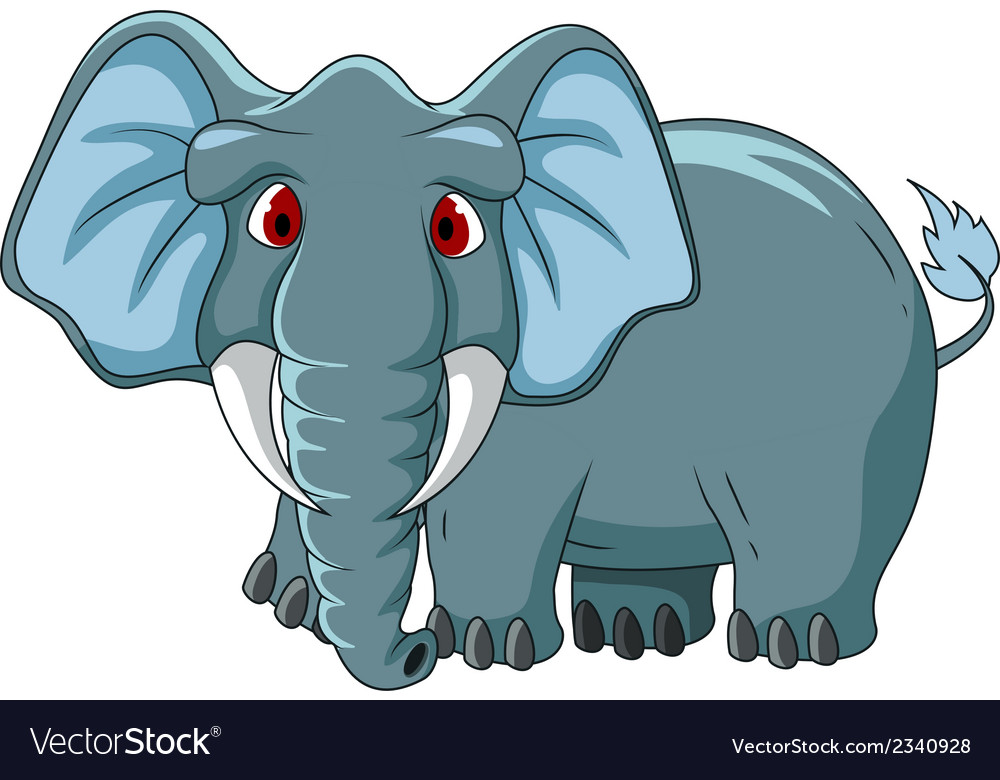 Cute elephant cartoon vector | Price: 1 Credit (USD $1)