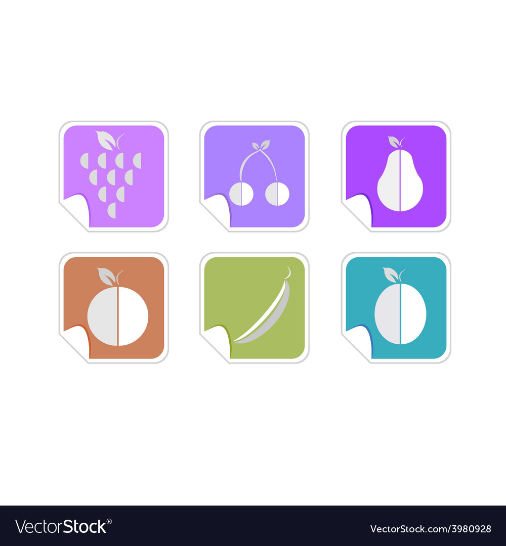 Fruit color icon vector | Price: 1 Credit (USD $1)