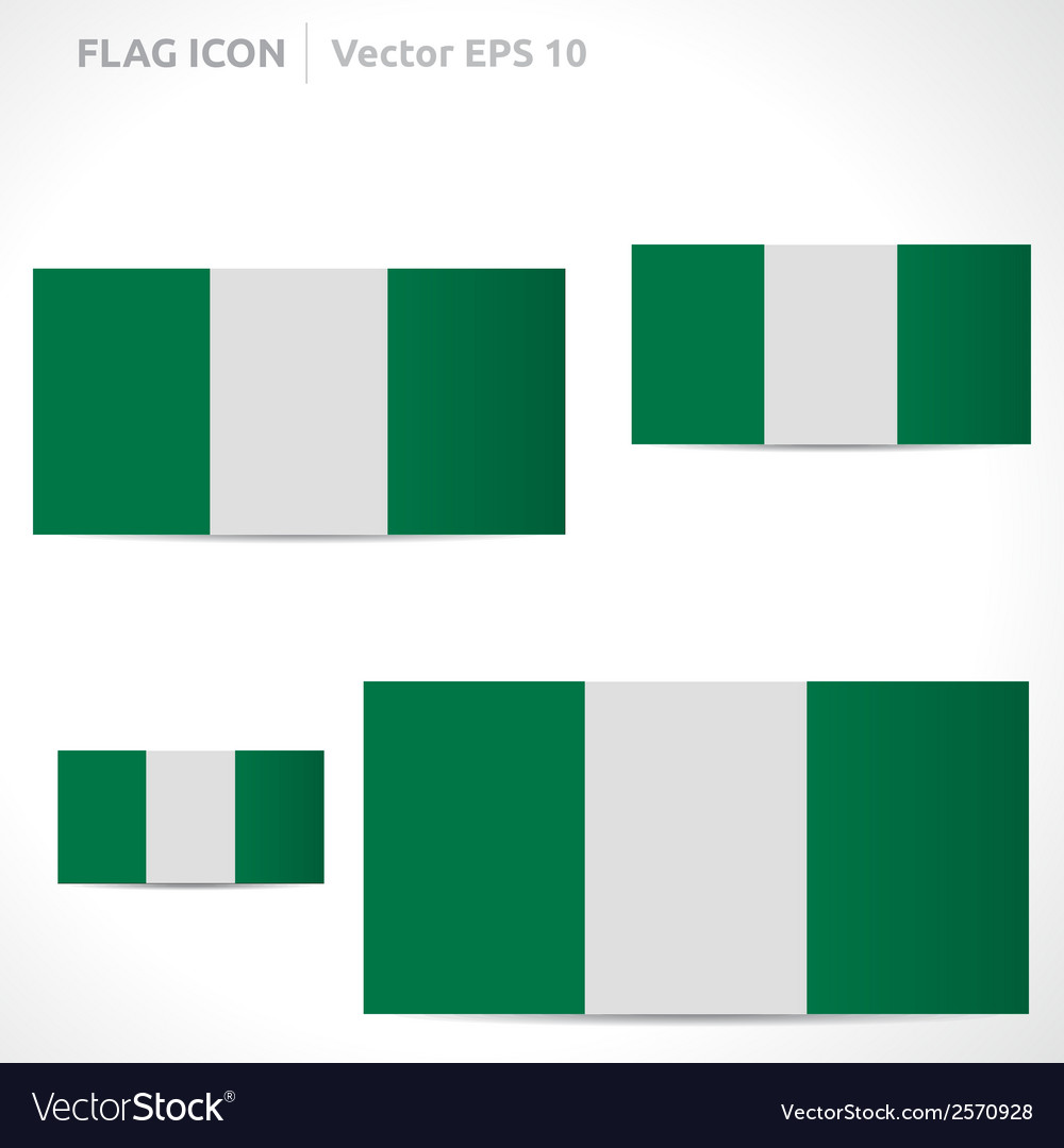 Nigeria flag template vector | Price: 1 Credit (USD $1)