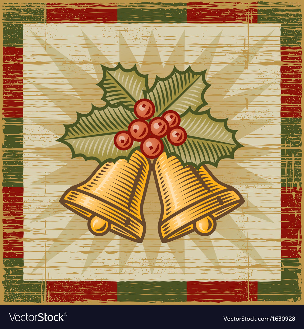Retro christmas bells vector | Price: 1 Credit (USD $1)