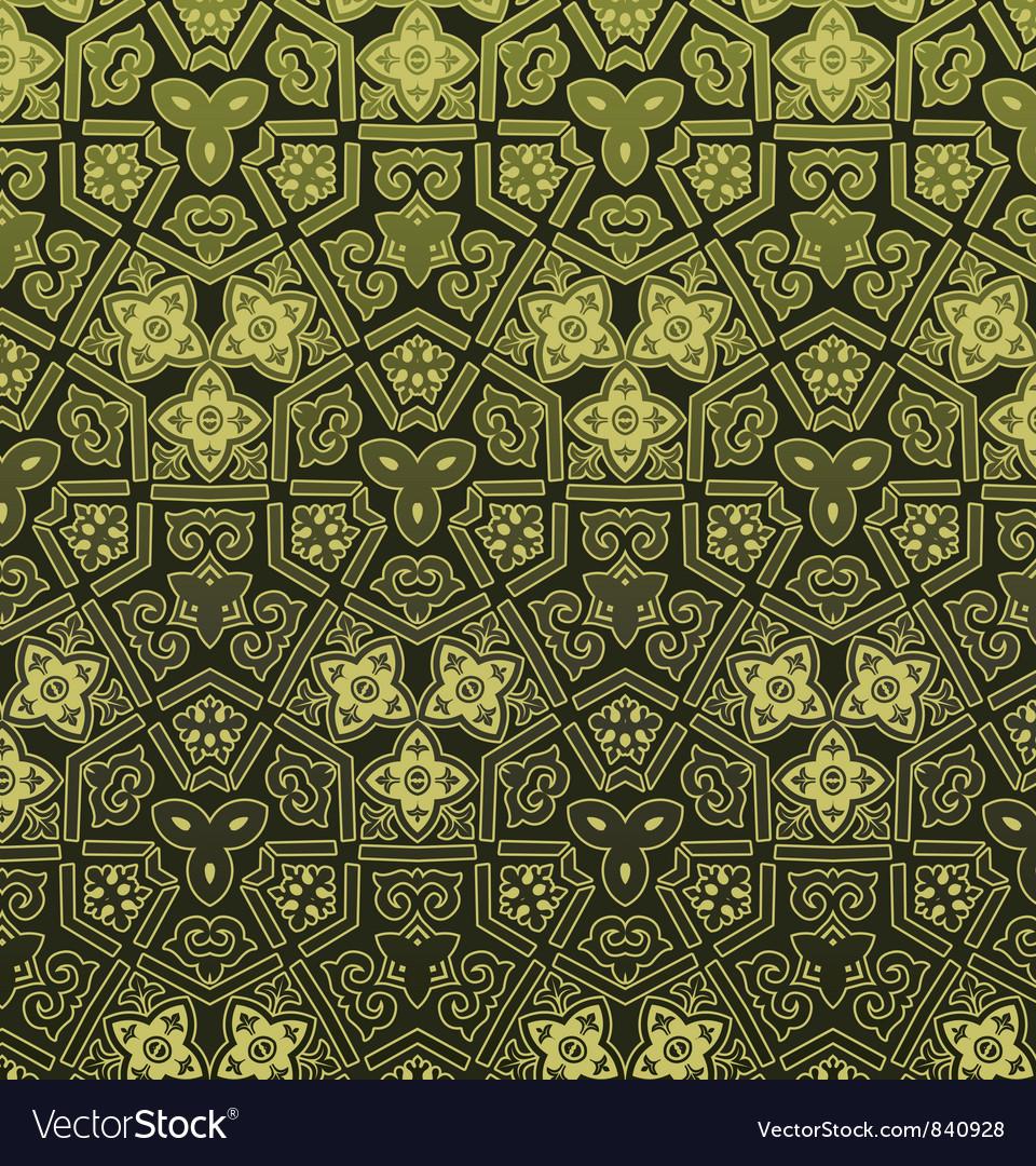 Retro floral pattern vector | Price: 1 Credit (USD $1)