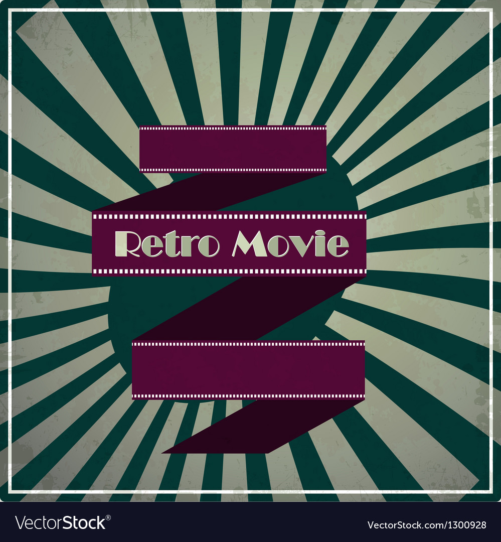 Retro movie background vector | Price: 1 Credit (USD $1)