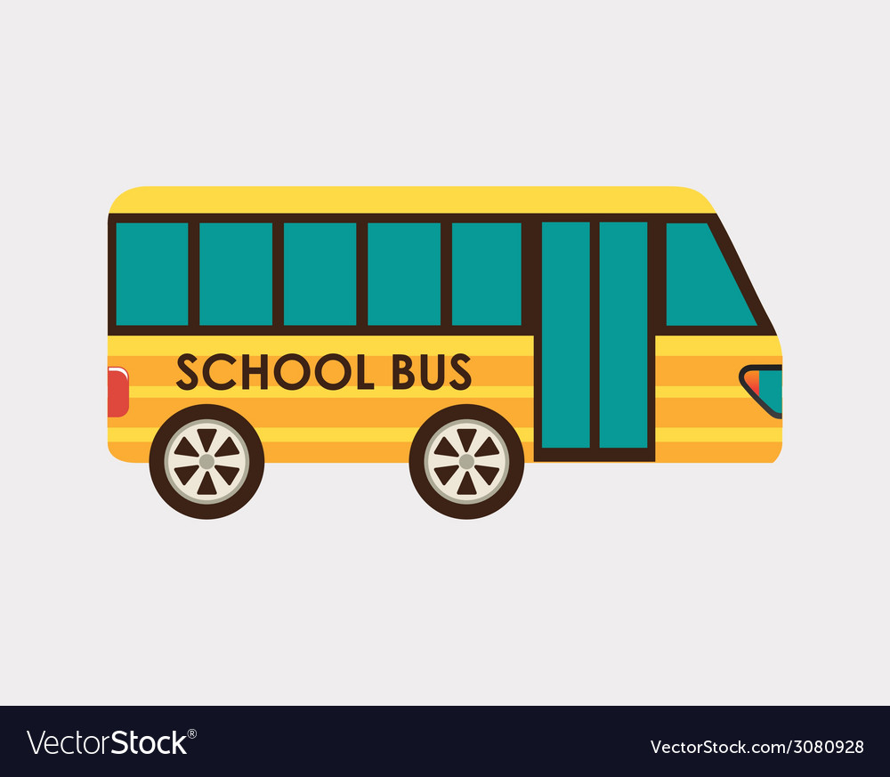 School bus design vector | Price: 1 Credit (USD $1)