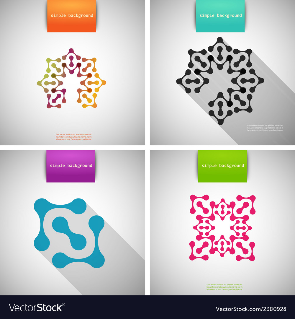 Set of colored tech patterns vector | Price: 1 Credit (USD $1)