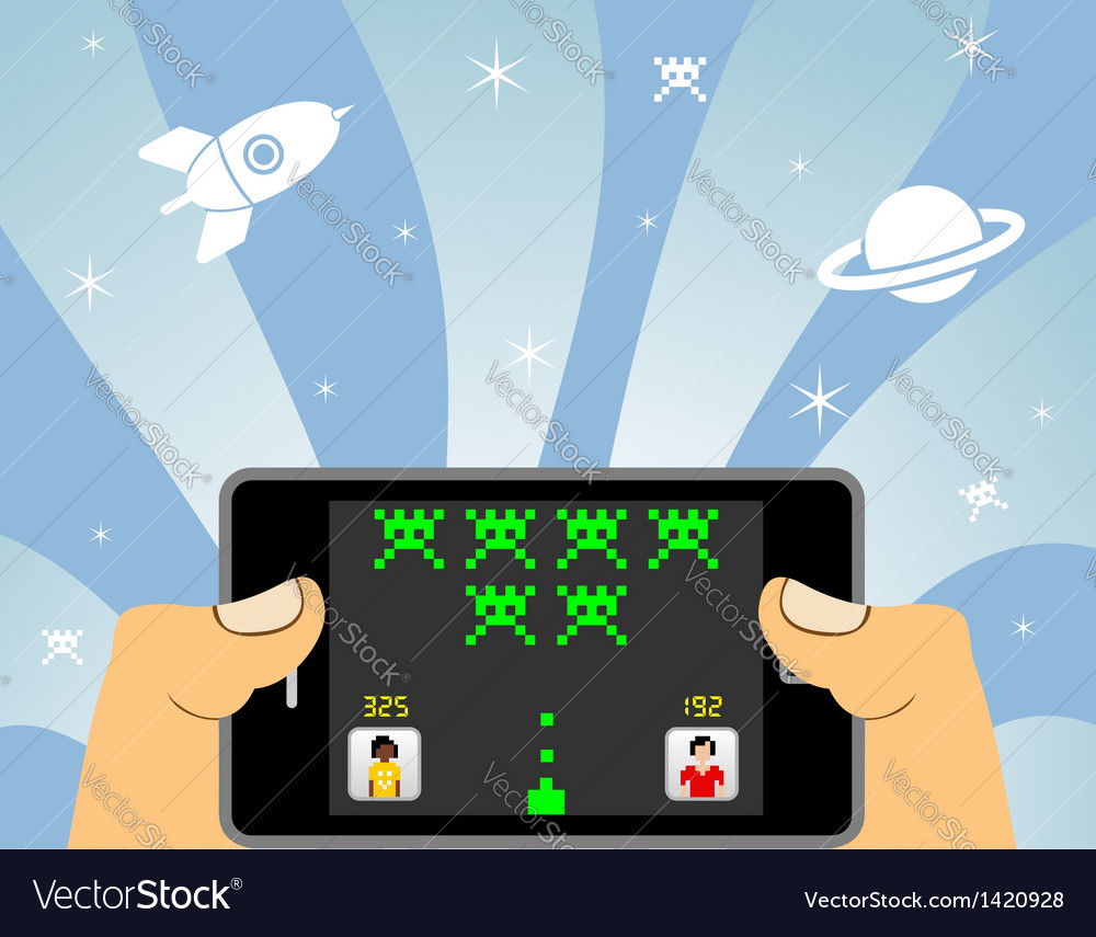 Smart phone online gaming vector | Price: 1 Credit (USD $1)