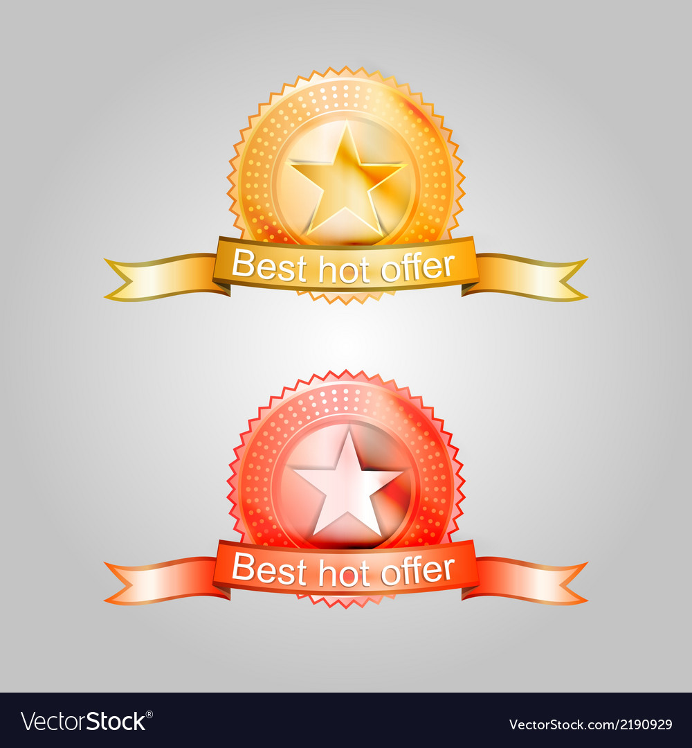 Badges for the best offer vector | Price: 1 Credit (USD $1)