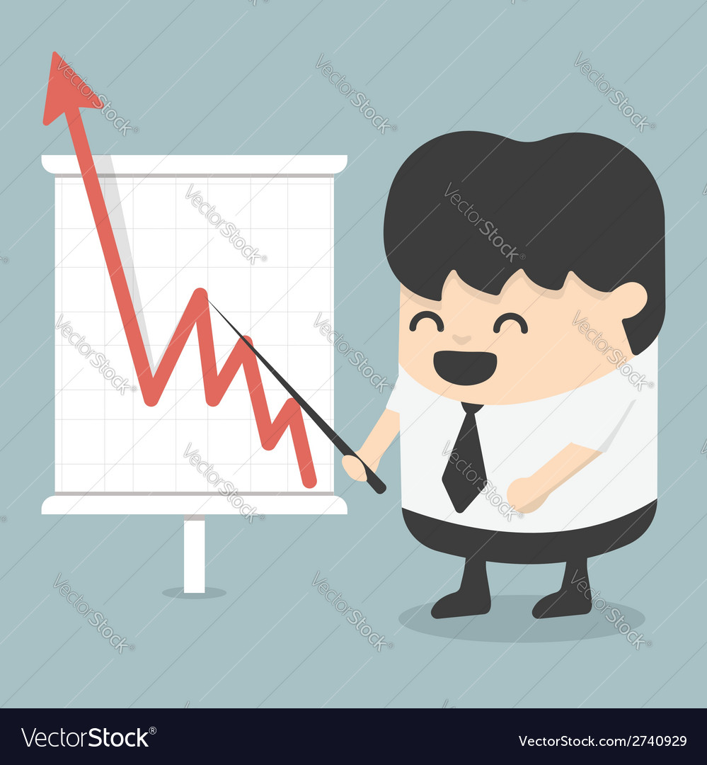 Businessman with business growing graph vector | Price: 1 Credit (USD $1)