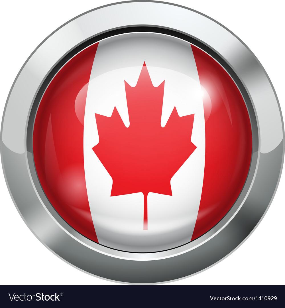 Canada flag metal button vector | Price: 1 Credit (USD $1)