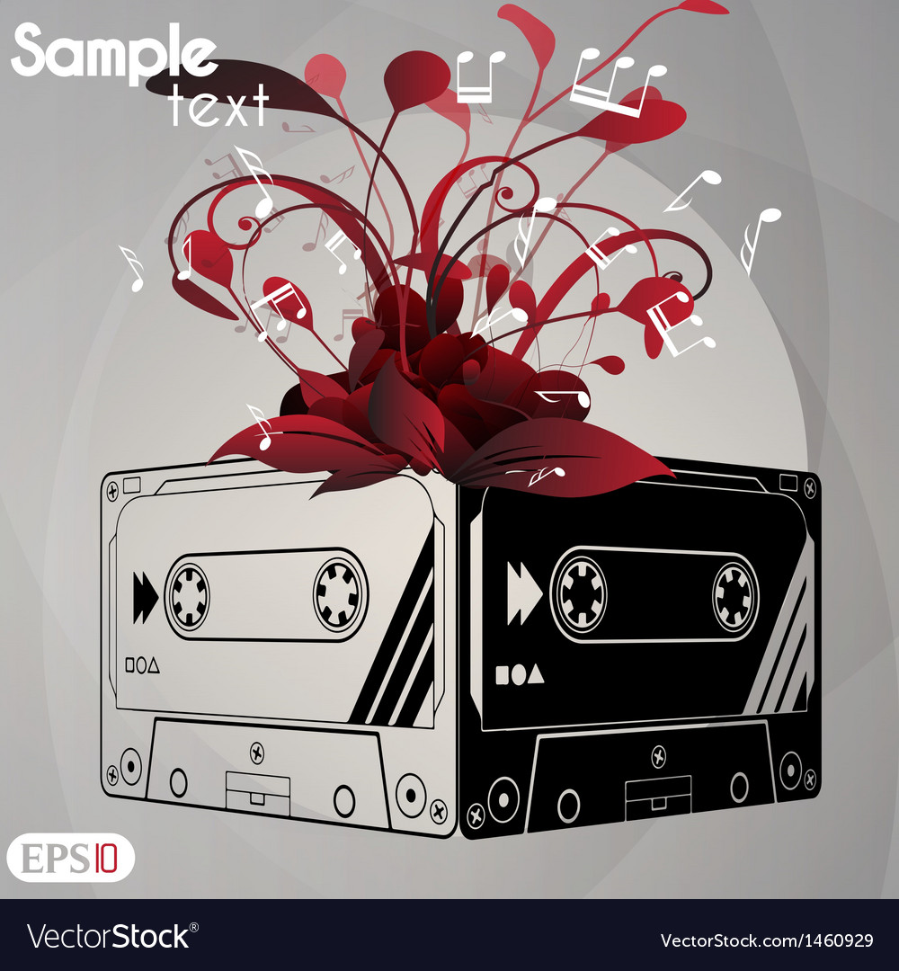 Cassette tape vector | Price: 1 Credit (USD $1)