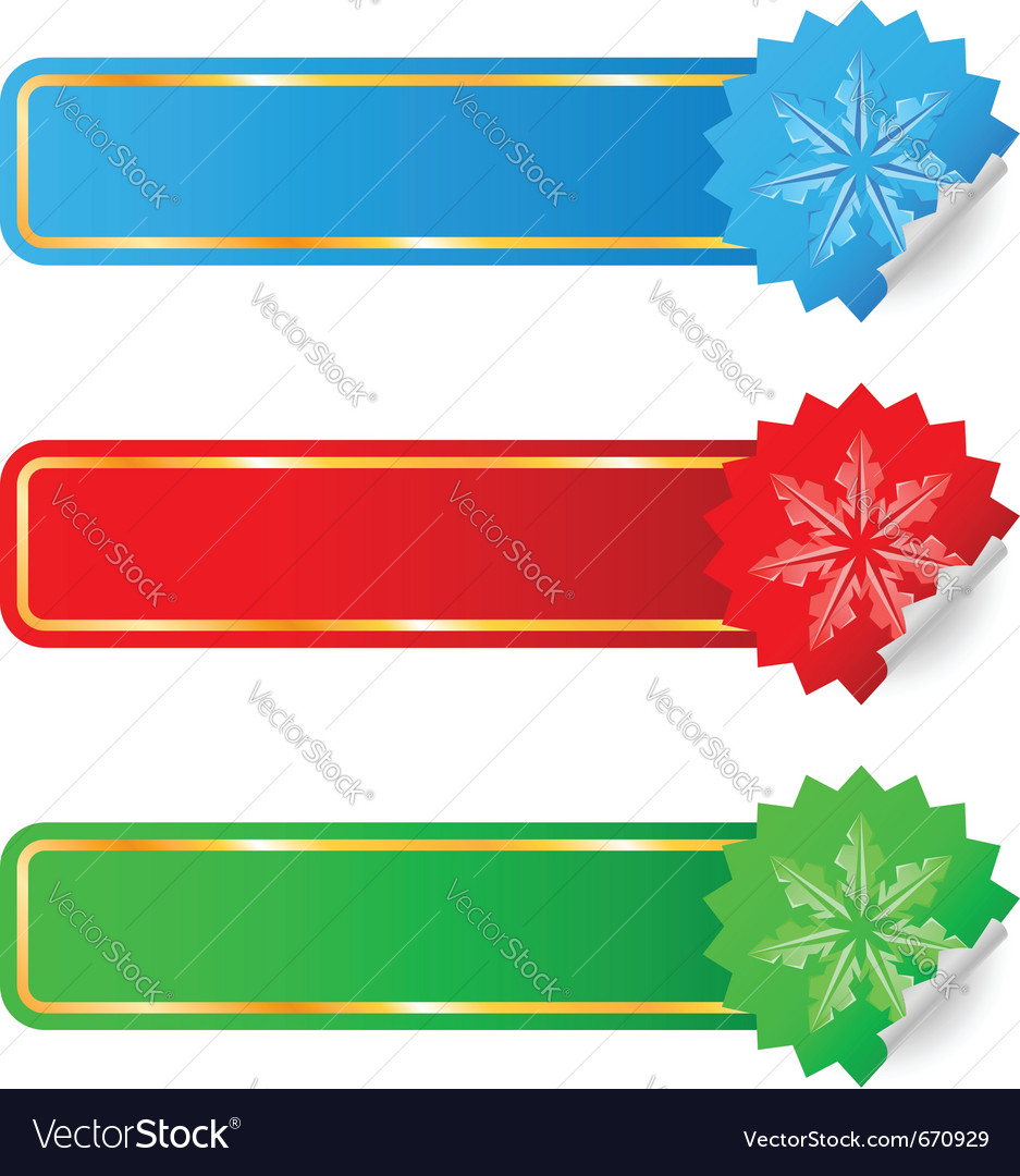 Colored labels selling the new year vector | Price: 1 Credit (USD $1)