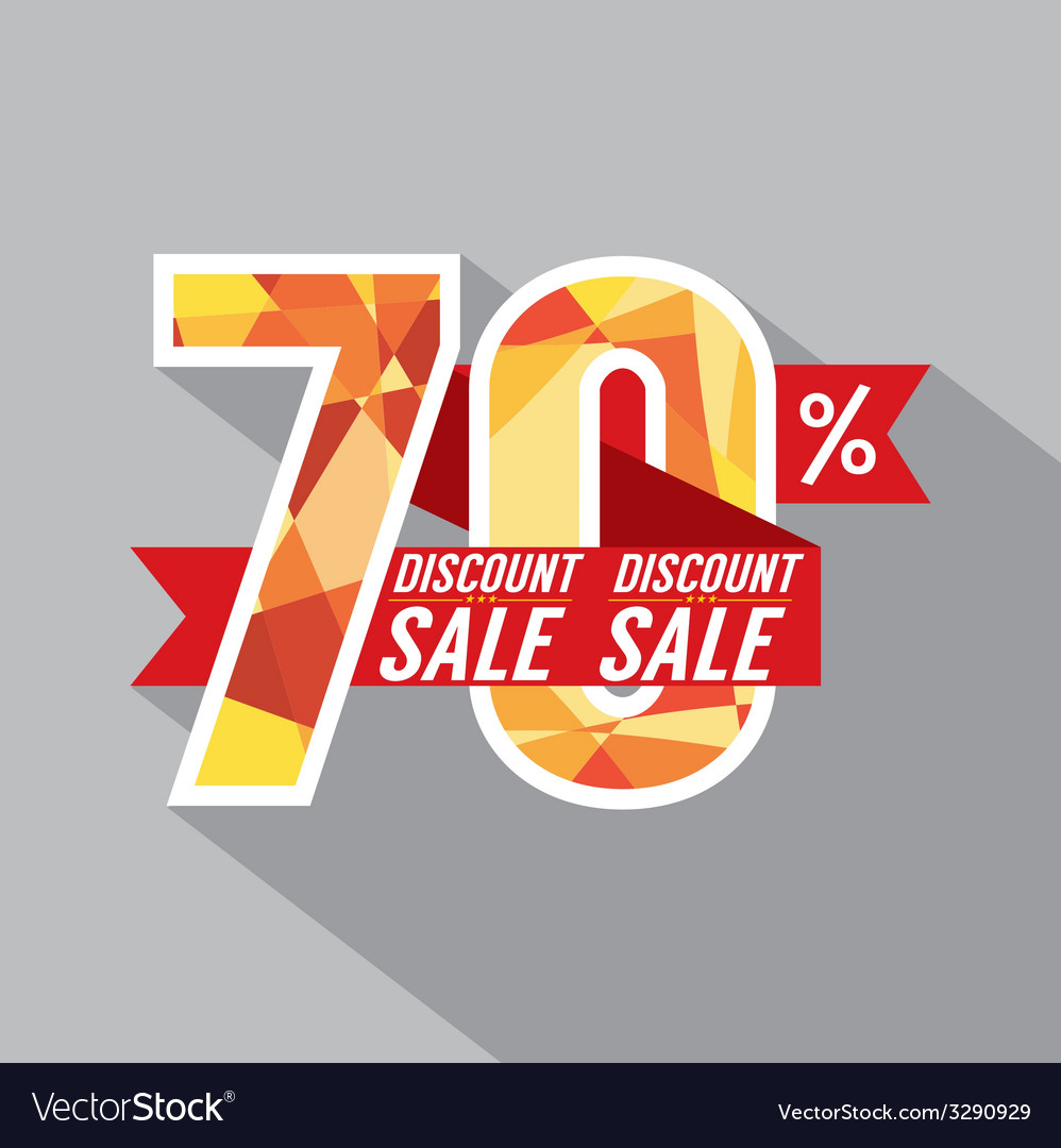 Discount 70 percent off vector | Price: 1 Credit (USD $1)